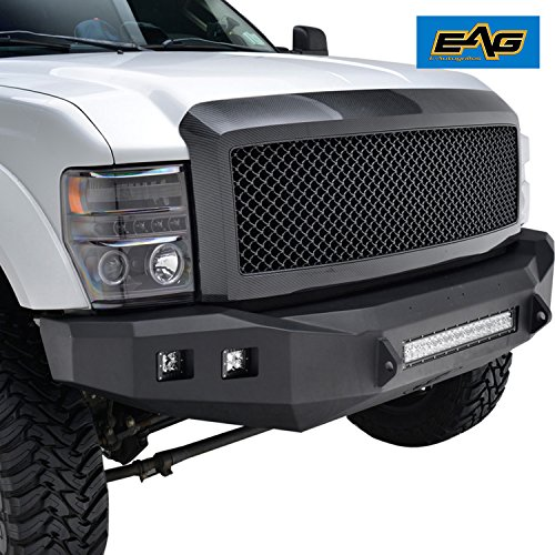 (EAG 08-10 Ford F-250/F-350 Super Duty Replacement Ford Grille ABS Grill With Shell Carbon Fiber Look)