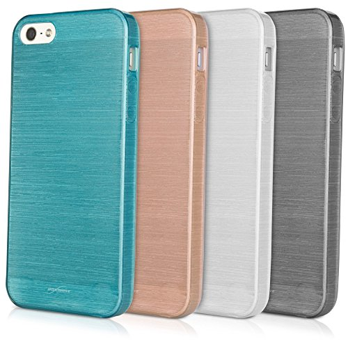 Verrerie BoxWave Étui Cristal pour Apple iPhone 5S Coque – Coque en TPU brillant semi-clear Flexible Étui de protection avec Shimmer – Apple iPhone 5s et coques (Graphite)