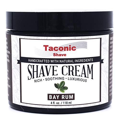 Taconic Shave Bay Rum Shaving Cream, Creates a Rich and Luxurious Lather - 4 oz