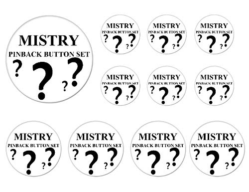 Mistry R&B HipHop Music Artis Buttons Badges/Pin Random 1 Set of 11 Buttons [6 pins 1 Inch + 4 pins 1.25 Inch + 1 pin 2.25 Inch]