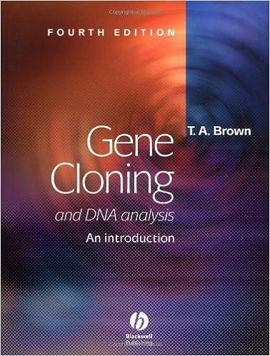 Pdf gene brown cloning ta