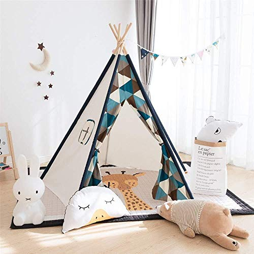 Child Teepee Wigwam Play Tent Foldable Cotton Canvas Teepee Shooting Props Play Folding Game Tent Room Decoration…