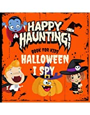 I Spy Halloween Book For Kids Ages 4-8: I Spy With My Little Eye Kids |A Fun Search and Find Game With Alphabet and Halloween Character |Activity Coloring and Guessing Game For Kids Ages 4-8