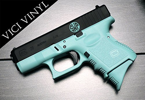 - Your 2 or 3 Initials Monogram Circle Decal for Gun pistol .5