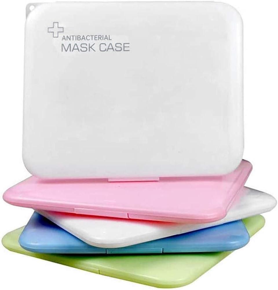 Caja de almacenamiento de m/áscaras port/átiles Clip de almacenamiento Organizador Caja de almacenamiento de m/áscaras Carpeta de guardado reutilizable transparente a prueba de polvo e impermeable