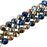 144 pcs (1 gross) Swarovski 2058 Xilion / 2088 Xirius Rose crystal flat backs No-Hotfix rhinestones nail art METALLIC Colors Mix ss12 (3.1mm) **FREE Shipping from Mychobos (Crystal-Wholesale)**