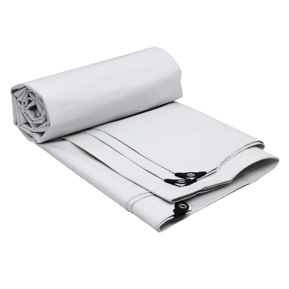Planen Wasserdichte Plane mit Ösen Polyethylen Folie Sonnenschutz Schuppen Tuch Regenschutz Markise Outdoor – 175 g m2, weiße Planen