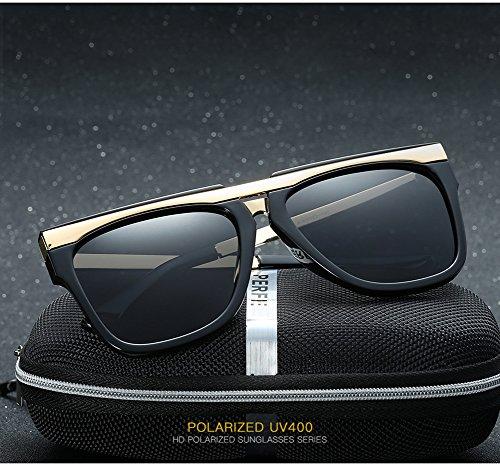 para Protección para UV Polarizadas Sol Aviator Mujer 400 Gafas C2 Hombre De C2 8q1UYY