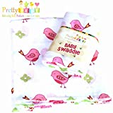 1 Soft & Breathable Baby Swaddle For Deeper Sleep. Multi Use Muslin Cotton ...