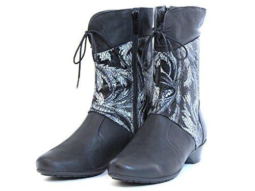 Boots Softwaves Women schwarz Schwarz Ankle Black Black 6 34 37 PPEFCWg1