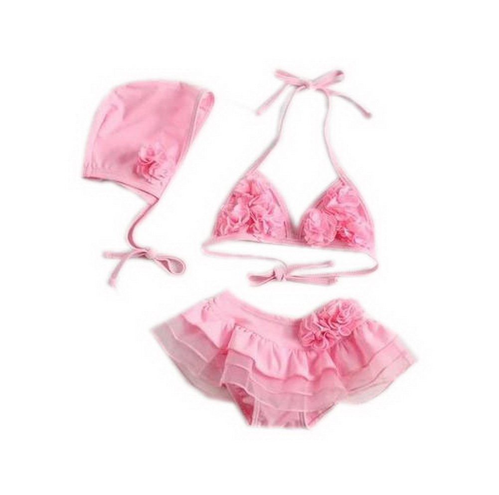 Cute Baby Girls Two Pieces Pink Top & Bottom, 5-7 Years Old PANDA SUPERSTORE PS-SPO2420250011-EMILY01120