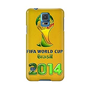 S50769 world cup soccer brasil 2014 Gears Glossy Case Cover For Samsung Galaxy S5