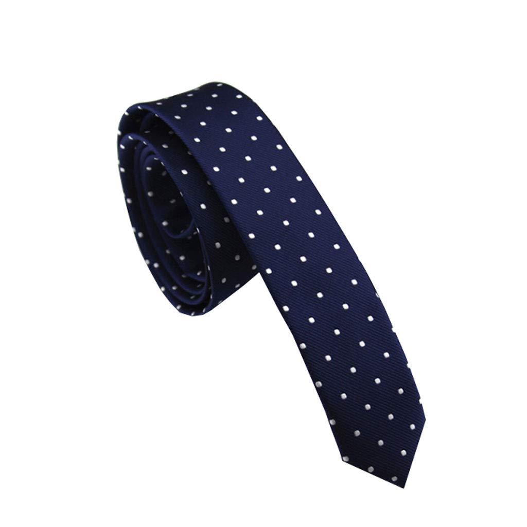 Wangyi Corbata- Hombres, Corbata de Lunares 4cm (Color : Azul ...