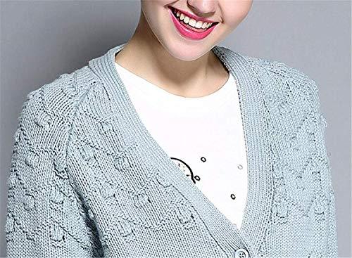 Moda Cappotto Puro Betrothales Primave Cashmere Lunga Colore Blau Donna Autunno EHID29W