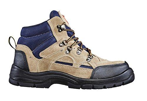 ASS Luka Sicherheits-Stiefel S1P Blau Braun Blau