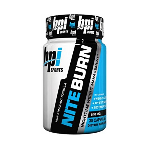 BPI Sports Nite Burn Nighttime Weight Management Formula LimitedQuantity 640 MG 30-Count (Pack of 2)