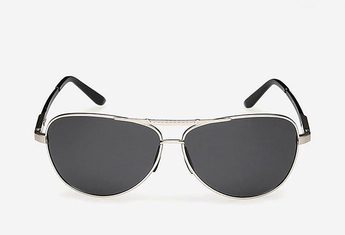 DZW El Nuevo Aluminio Magnesio Polarizado Gafas De Sol Hombres Conducir Espejo De Color Brillante Espejo, Silver: Amazon.es: Ropa y accesorios