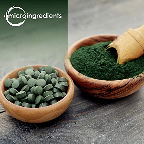 Organic Chlorella & Spirulina 3000mg, 720 Tablets, 120 Servings, Best Superfood for Antioxidant, Prebiotics, Chlorophyll, Amino Acids, Fiber & Proteins, Non-GMO & Vegan Friendly by Micro Ingredients (Image #2)