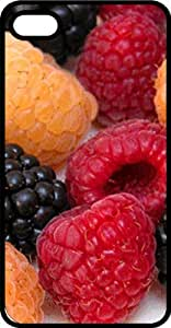 Red & Yellow Raspberries & Blackberries Tinted Rubber Case for Apple iPhone 5 or iPhone 5s