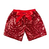 Kyпить Messy Code Fashion Hot Sale Sequin Shorts for Girls Size S(12Month), Red на Amazon.com
