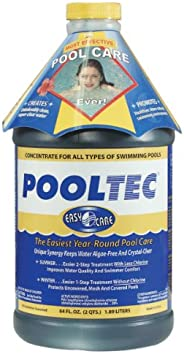 EasyCare 30064 PoolTec Algaecide, Clarifier and Chlorine Salt Cell Booster, 64 oz. Bottle