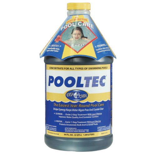 EasyCare 30064 PoolTec Algaecide, Clarifier and Chlorine Salt Cell Booster, 64 oz. Bottle, Appliances for Home