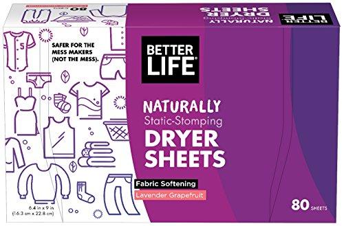 Better Life Dryer Sheets, Lavender Grapefruit, 80 Count, 2422