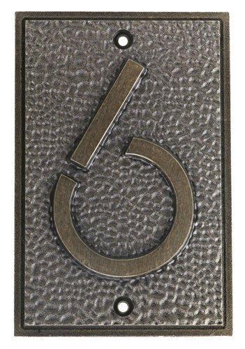 Frank Lloyd Wright Exhibition家アドレス番号6プレートbyサミット B01IE7GPX6