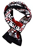 YSSP, Black Red Chic Dots 63'' x 11'' Man's 100 Pure silk scarf wrap Accessory gift