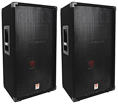 "(2) Rockville RSG12 12"" 3-Way 1000 Watt 8-Ohm Passive DJ/Pro Audio PA Speaker from Rockville"