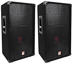 (2) Rockville RSG12 12 3-Way 1000 Watt 8...