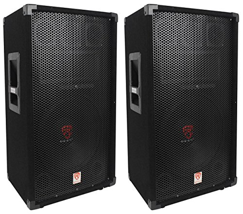 ((2) Rockville RSG12 12 3-Way 1000 Watt 8-Ohm Passive DJ/Pro Audio PA)