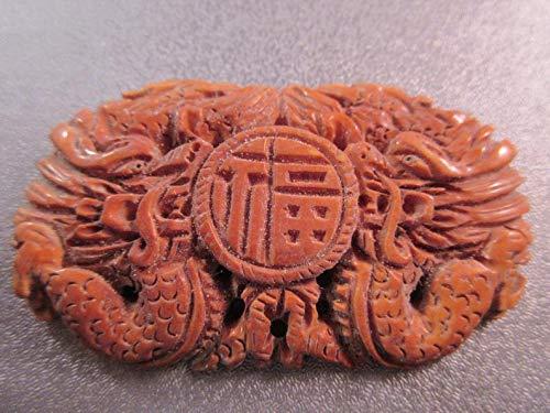 Design Ideas - Camel Bone Carved Dragon Bead Pendant 1pc