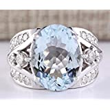 Women Fashion Aquamarine Gemstone 925 Sterling Silver Wedding Ring Jewelry New pimchanok (6)