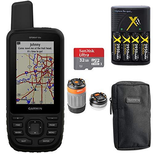 - Garmin GPSMAP 66s Loaded TOPO U.S. &Canada Maps + Sandisk Ultra 32gb Memory Card Bundle