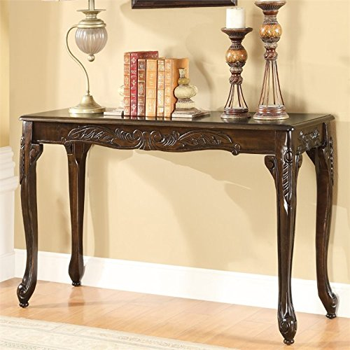 Furniture of America Alice Console Table in Dark Cherry