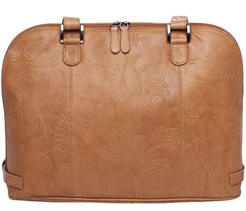 marrón Handtaschen para Osthoff Manufaktur Josephine de hombro hombre marrón Piel size al Bolso one v5wxxZqB