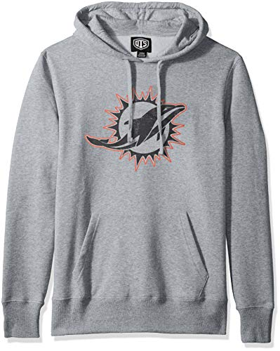 Miami Dolphins Fleece - NFL Miami Dolphins Men's OTS Fleece Hoodie, Distressed Iced, Small