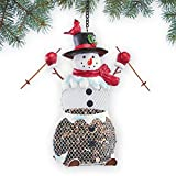 Cheap Collections Etc Skiing Snowman Birdfeeder Christmas Decoration