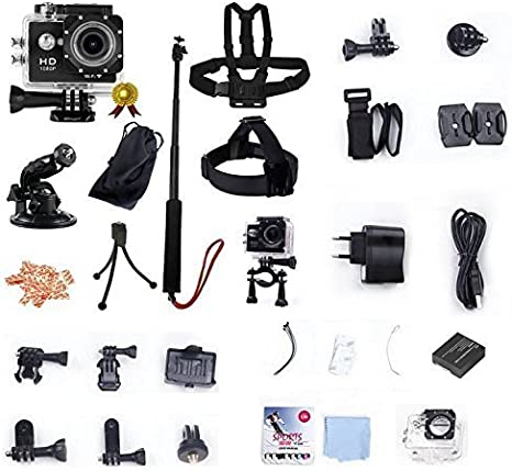 WINUP® XTC-Pro cámara WiFi V2 Pack Deporte Impermeable de acción Full HD 12 MP Type GoPro (cámara integrada, Deportes, para Auriculares, Mini videocámara Alta definición 1080p para Deportes Extremos): Amazon.es: Electrónica