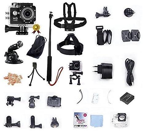 Winup ® XTC, wi-PRO-V2-Fi, cámara impermeable para deportes de ...