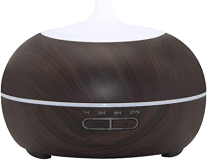 300ML Air Humidifier Essential Oil Diffuser wood grain Aromatherapy diffusers Aroma purifier MistMaker led light for Home