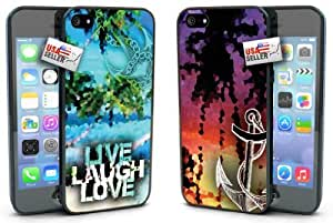 Live Laugh Love Digital Beach Anchor COMBO TWO PACK for iPhone 6 Plus (5.5 inch) by mcsharks