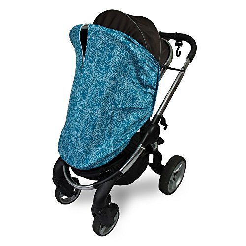 Outlook Universal Cotton Sleep Eazy Stroller Cover (Teal Fern Leaf) by Outlook 2010 (Image #1)