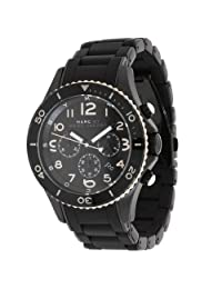 Marc by Marc Men's Rock MBM2583 Black Silicone Analog Quartz Watch