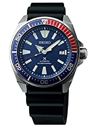 Seiko Samurai Prospex Automatic Dive Watch with Black Silicone Strap 200 m SRPB53