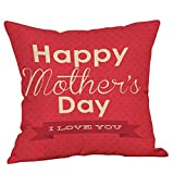 2019 EOWEO Happy Mothers' Day Pillow Cases Sofa Cushion Cover Home Decor Pillow Case(45cm×45cm,Multicolor-J)