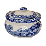 Spode Blue Italian Covered Sugar Bowl