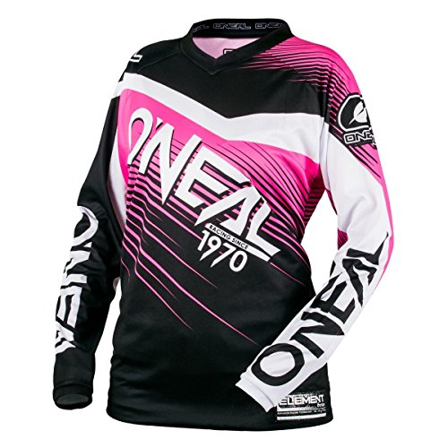 ONeal-Element-Racewear-Youth-Girls-BlackPink-Motocross-Jersey-Youth-Large