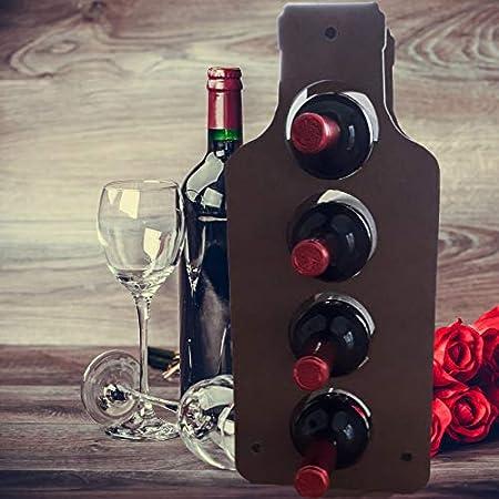 Botellero Vino de Madera Diseño Rustico en Forma de Botella – Ideal para Cocina Bodega o Vinoteca